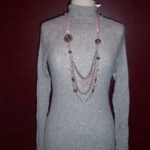 Mossimo Light Weight Gray Turtle neck Sweater NWT